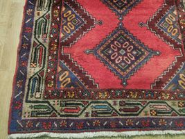 Pink Hamadan Persian Wool Handmade Rug 3x9 All-Over Geometric Rug image 7