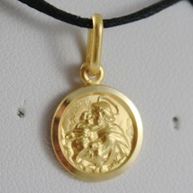 SOLID 18K YELLOW GOLD ST SAINT ANTHONY PADUA SANT ANTONIO MEDAL MADE IN ITALY  image 1