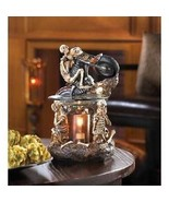 Skeleton Oil Warm Motorcycle Figurine Candle Scented Burner Skull Biker ... - $55.55