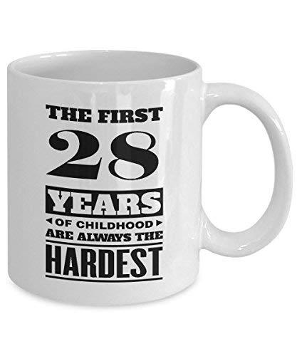 Primary image for BirthdayMugs - The First 28Years of Childood Coffee Mugs - Awesome 28th Birthday