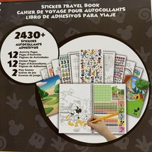 Disney Mickey Mouse Sticker Travel Book Activity Color Play Scene - $9.69