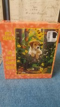 Puppies, Frog & Flowers 100 Piece 9X12 Puzzle by E&L Corporation Just Ho... - $5.99