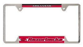 Arkansas Razorbacks Heavy Duty Chrome Metal License Plate Frame - $13.95