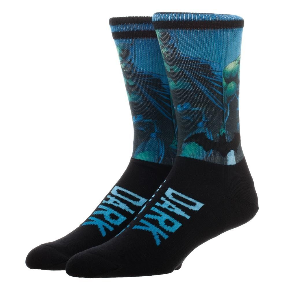 Batman Dark Knight DC Comics Sublimated over Knit Adult Crew Socks