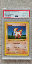 Pokemon Ponyta 60/102 Shadowless Base Set PSA 10 1999 Pokemon TCG Card Game - $31.99