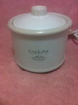 CROCK POT LITTLE DIPPER SLOW COOKER  WHITE  #32041 DIP POT-FREE SHIP--VGC - $24.39