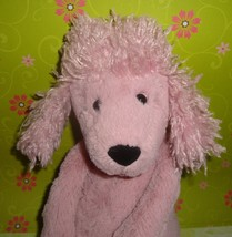 Jellycat London Poodle Dog Pink Mauve Plush Stuffed Animal Puppy Soft To... - $15.79