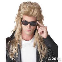 California Costumes Unisex Adult 80's Rock Mullet (Blonde) Adult Wig Blonde Medi