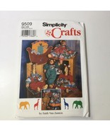 """Simplicity 9509 18"""" Giraffe Elephant Lion Clothes and Ark Wallhanging - $11.64"""