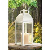 Distressed Ivory Candle Lantern - $31.00
