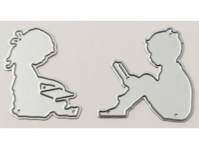 Boy and Girl Reading Dies, Set of 2
