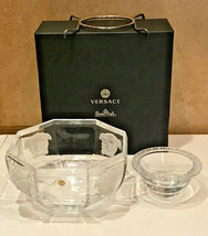Versace by Rosenthal Caviar Bowl with insert 3 pcs. Medusa Lumiere NEW - $356.40