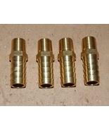 "1/4"" Hose Barb x 1/2"" Male NPT Brass Pipe Fitting Rigid Adapter 4 each U... - $9.49"