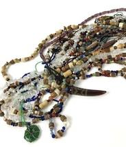 Costume Jewelry Lot Vtg to Modern Glass Stone Wood Beads Boho Artisan Ne... - $49.45