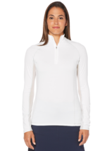 Callaway Womens Swing Tech Mock Pullover in Bright White, Medium - $49.49