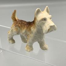 Vintage Wire Hair Fox Terrier Dog Porcelain Ceramic Figurine Brown Japan... - $27.76