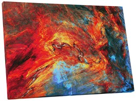 "Pingo World 0720QYB5ABY ""Fire on Ice Abstract"" Gallery Wrapped Canvas Wall Art,  - $42.52"