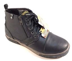 Skechers 64232 Black Leather Memory Foam Men  39 s Lace Up Sneaker Booties  Size 4f68c212afd