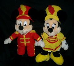 VINTAGE DISNEY MICKEY & MINNIE MOUSE MARCHING BAND STUFFED ANIMAL PLUSH ... - $49.65