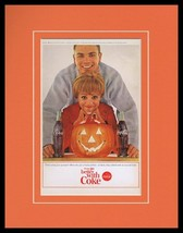 1964 Coca Cola Halloween Framed 11x14 ORIGINAL Vintage Advertisement - $46.39