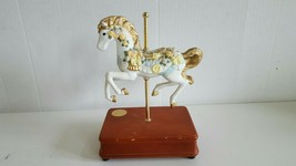 "Heritage House Carousel Horse Music Box ""Elizabeth"" 8.75"" Play I Love You Truly - $24.99"