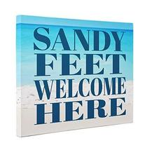 Sandy Feet Welcome Here Canvas - $32.18
