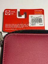 Rare NEW Coke Coca Cola Tokyo Special edition Women Girl burgundy ID zip wallet image 6