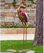 Colorful Flamingo Bird Garden Yard Landscape Decor - $50.00