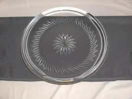 """Atlantis Crystal Cut Glass 11.50"""" Round Tray Plate Portugal Signed NICE - $123.75"""