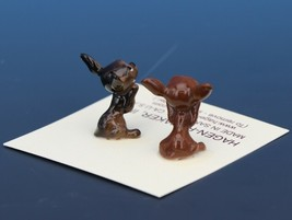 Hagen Renaker Dog Chihuahua Tiny Puppies Begging White Eye Figurine Set image 2