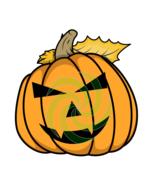 Pumpkin Face P15smp-Digital ClipArt-Art Clip-Gift Tag-Tshirt-Halloween - $3.99