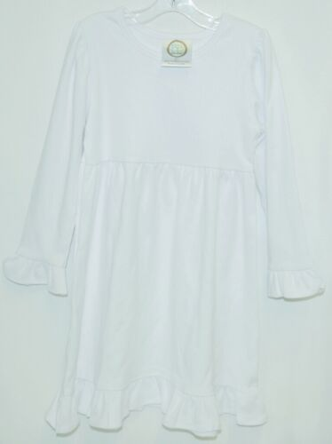 Blanks Boutique Long Sleeved Color White Ruffle Dress Size 3T