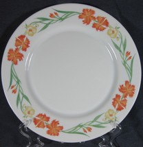 Arcopal China Wildflowers Dinner Plate(s) M3 France Orange Yellow Floral... - $14.95