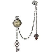 Uncle Albert's Fob Timepiece Steampunk Chain Key Ear Cuff Earring E349 Alchemy - $34.95
