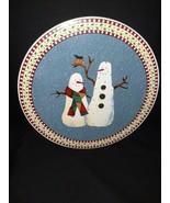 "Sakura~ Debbie Mumm~ Snowman~ Trivet/Hot Plate~ 9 3/4""~ Genuine Stonewar... - $11.87"