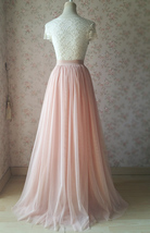 Plus Size Full Long Tulle Skirt Gray Blush White Women Tulle Skirt Wedding Skirt image 11