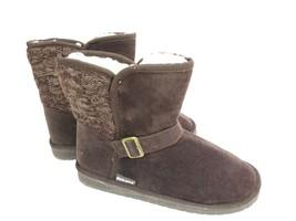 Women's Muk Luks Size 10 Brown Boots Mukluks Jada Booties Slip-on faux fur - $29.95
