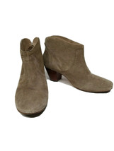 Anthropologie HUDSON H England SZ 38 US 8 Tan Suede Ankle Boots Booties Used 3X - $34.65