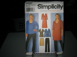 Simplicity 9482 Misses Knit Dress or Top, Pants & Skirt Pattern - Size 6... - $7.91