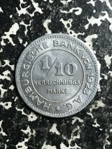 1923 Alemania Hamburg 1/10 Verrechnungsmarke Lote #L2698 Bonito - $6.80