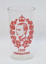 Vintage 1937 King George VI Coronation Drinking Glass - $9.41