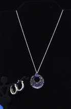 Lot 2 Jewelry Charter Club Hoop Earrings & Necklace w/ Pendant Silver To... - $13.16