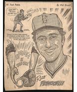 Rico Petrocelli Red Sox Baseball Sports Cartoon Newspaper Clipping Sketc... - $10.99