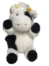 "Vintage Gund Cow Plush Stuffed Animal 6""  Barnyard Buddies 1989 - $16.78"