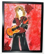 Original Artwork - Axel Rose Canvas Oil Painting One of A Kind Framed Ar... - $46.74