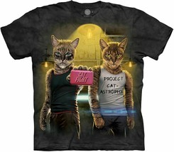 The Mountain  Adult Mens Graphic T shirt Unisex  Cat Fight - $18.75+