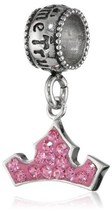 "Disney Stainless Steel Crystal Crown Dangle ""Dreams Do Come True"" Bead C... - $37.99"