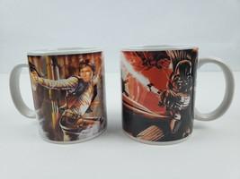 Star Wars Coffee Mug Han Solo & Bubba Fet Darth Vader & Luke Skywalker L... - $27.81