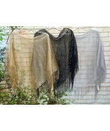 Evening Cocktail Poncho Touch of Sparkle Colors Black,Gold or Silver wit... - $12.99