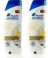 2 Head Shoulders Citrus Fresh Pyrithione Zinc Dandruff Shampoo13.5Fl oz ... - $29.99